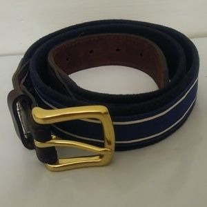 Vineyard Vines Leather/Nylon Belt 36 Waist